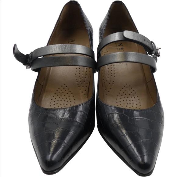 9a9d87a3449 Anyi Lu Shoes - ANYI LU SOPHIA BLACK CROC STRAPPY PUMPS SHOES SZ 7